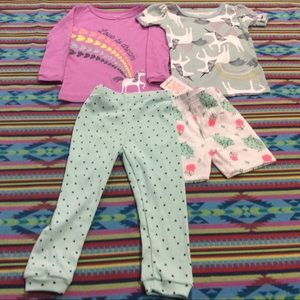 JUST ONE YOU BY CARTER'S GIRLS' PAJAMAS SET4PIECES